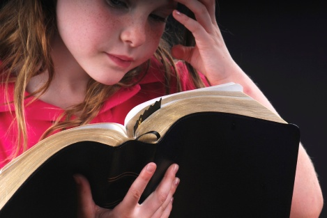 Girl Studying Bible